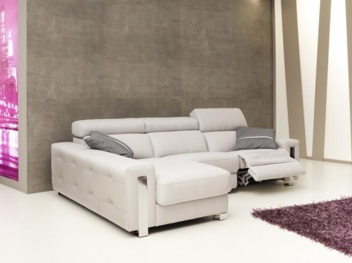 Sofá Chaiselonge de Piel Modelo Dubai