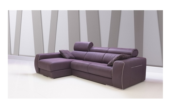 Sofa carmen de pedro ortiz con chaiselonge en tela o piel - Sofa pedro ortiz ...
