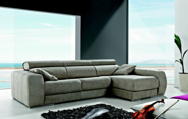 Sofa carmen de pedro ortiz con chaiselonge en tela o piel - Pedro ortiz precios ...