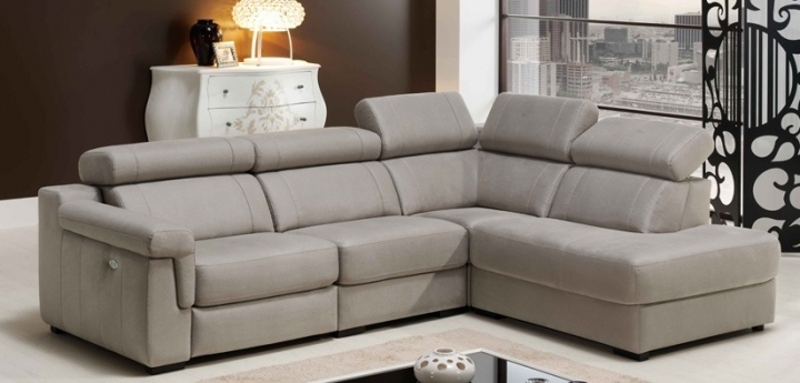 sofa enzo de piel confort con audio