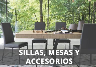 mesas, sillas y accesorios
